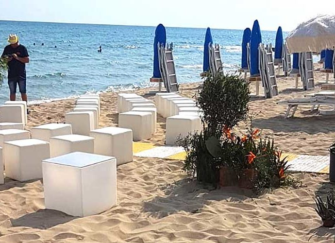 #Catering in spiaggia