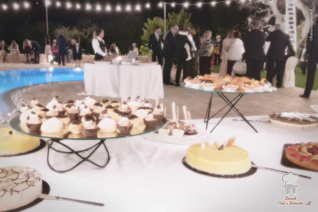 Buffet di dolci Catering di Matrimonio nei trulli in Puglia