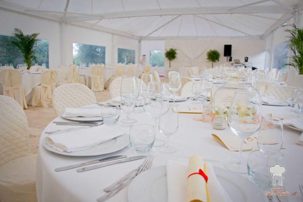 Catering di Matrimonio nei trulli con piscina in Puglia
