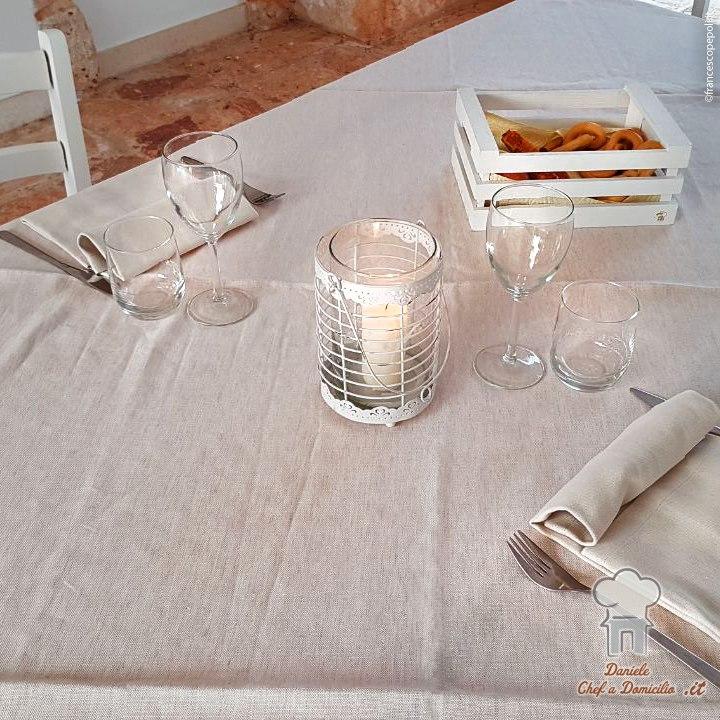 Cena romantica a bordo piscina.#ChefADomicilio #dani...